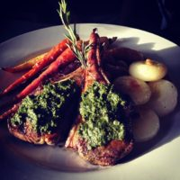 Grilled lamb Chops with Pesto